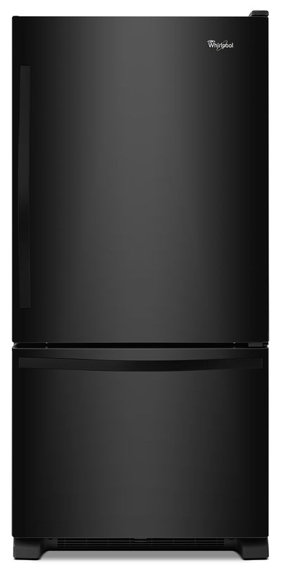 Whirlpool 19 Cu. Ft. Bottom-Mount Refrigerator – WRB329DFBB - Refrigerator in Black