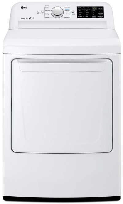 LG 7.3 Cu. Ft. Electric Dryer with Sensor Dryer Technology DLE7100W – White - Dryer in White