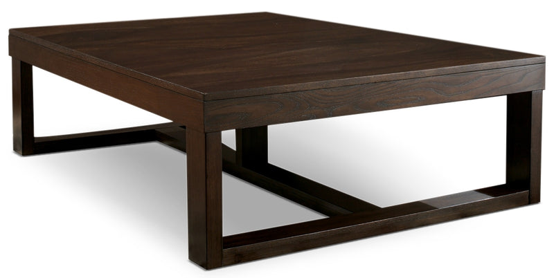 Watson Coffee Table - Contemporary style Coffee Table in Dark Brown Wood