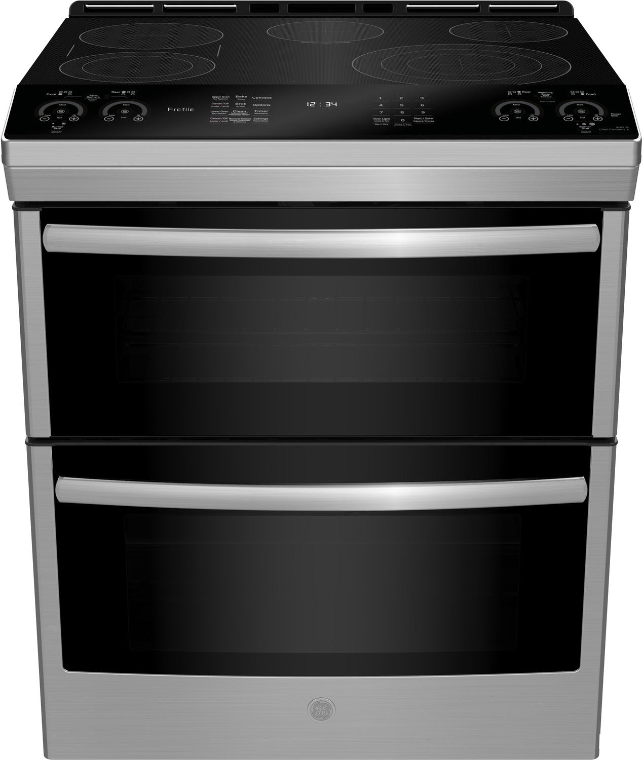 GE Profile 6 7 Cu  Ft  Slide-In Double Oven Smooth-Top Electric Range –  PCS980SMSS