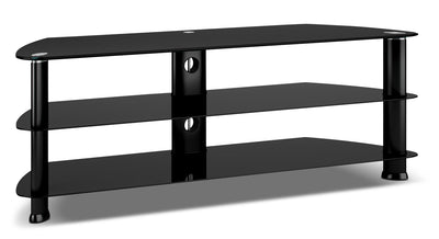 "Triton 55"" Corner TV Stand - Modern style TV Stand in Black Glass"