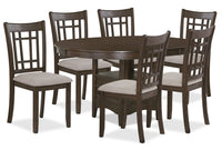 Desi 7-Piece Dining Package – Brown