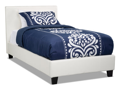 Chase Twin Bed – White|Lit simple Chase – blanc|CHASWTBD