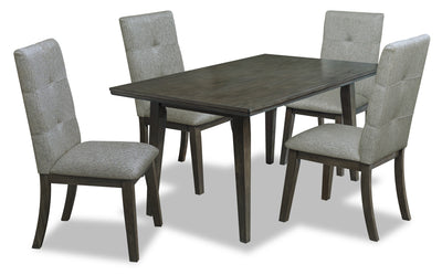 Chelsea 5-Piece Rectangular Dining Package - Grey - {Contemporary} style Dining Room Set in Grey {Rubberwood}