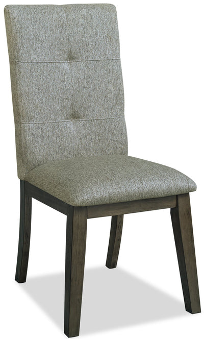 Chelsea Fabric Dining Chair - Grey - {Contemporary} style Dining Chair in Grey {Rubberwood}