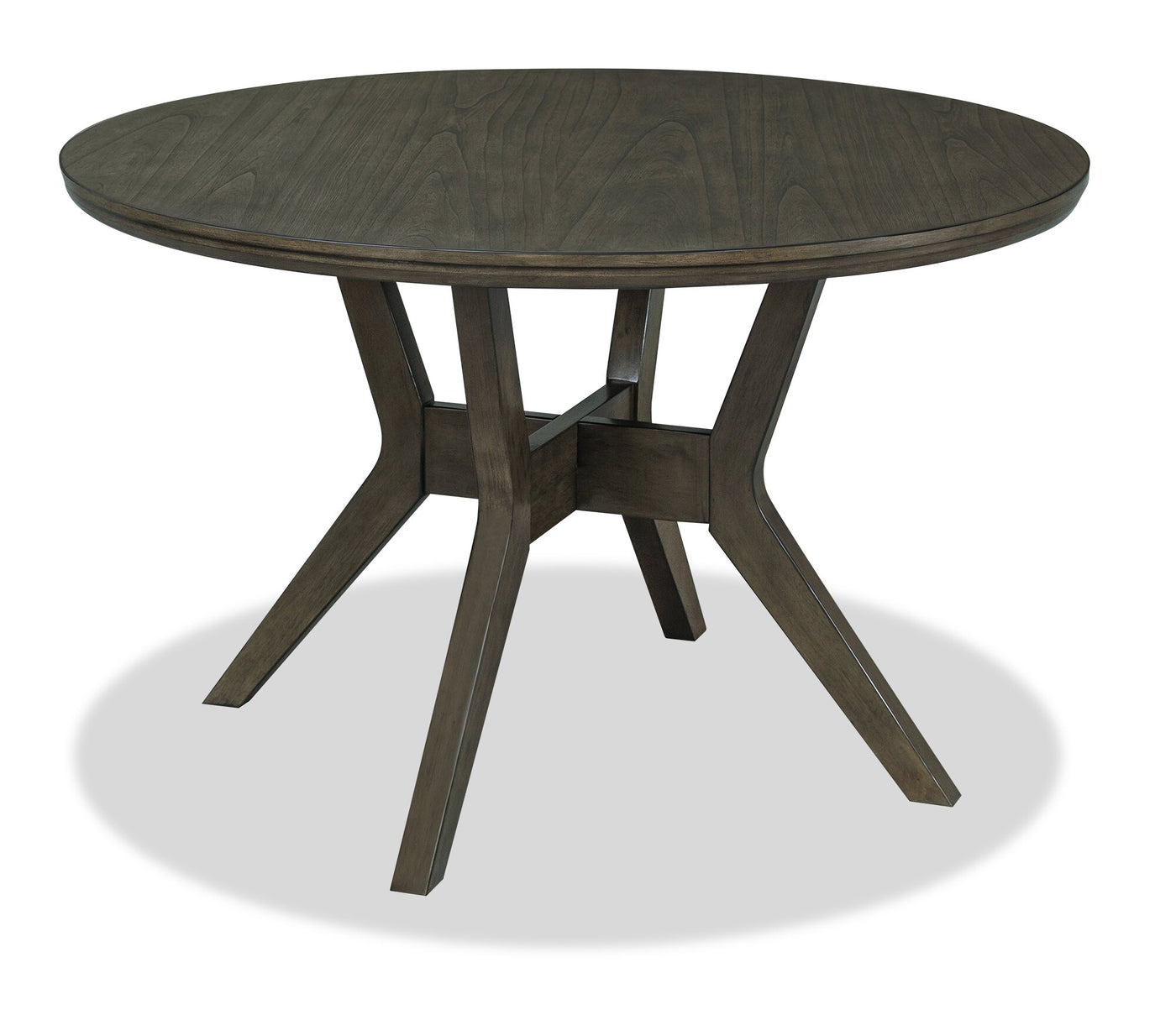 Chelsea Round Dining Table Grey Brown The Brick