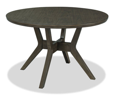 Chelsea Round Dining Table - Grey Brown|Table de salle à manger ronde Chelsea - gris-brun|CHELGRTL