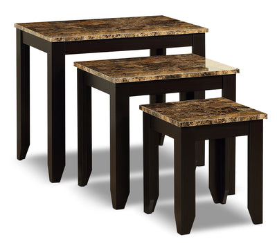 Roma 3-Piece Nesting Table Package|Ensemble de tables gigognes Roma 3 pièces|ROMANST