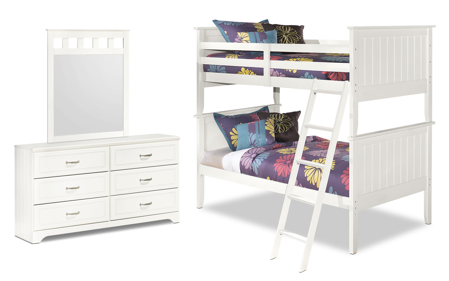 Lulu 5 Piece Twin Bunk Bed Package The Brick