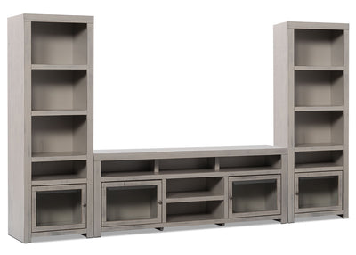 "Monterrey 3-Piece Entertainment Centre with 71"" TV Opening - Rustic style Wall Unit in Grey Wood"