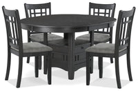Desi 5-Piece Dining Package – Charcoal