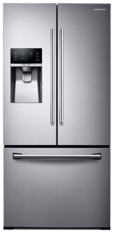 Samsung® 25.5 Cu. Ft. French Door Refrigerator - Stainless Steel - Refrigerator with Exterior Water/Ice Dispenser in Stainless Steel
