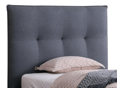 Cole Full Headboard - {Contemporary} style Headboard in Grey {Solid Woods}, {Plywood}