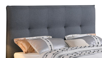 Cole King Headboard - {Contemporary} style Headboard in Grey {Solid Woods}, {Plywood}