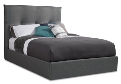 Cole Queen Bed - {Contemporary} style Bed in Grey {Solid Woods}, {Plywood}