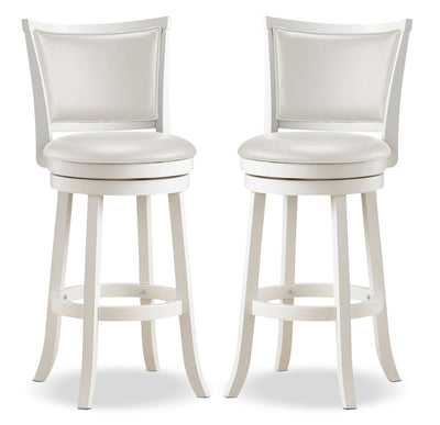 Woodgrove Bar-Height Dining Stool, Set of 2 - Contemporary style Bar Stool in White