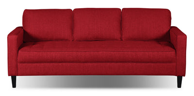 Paris Linen-Look Fabric Sofa – Cherry|Sofa Paris en tissu d'apparence lin - cerise|PARISCSF