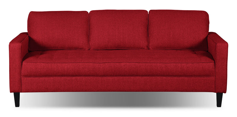 Paris Linen-Look Fabric Sofa – Cherry - Modern style Sofa in Cherry