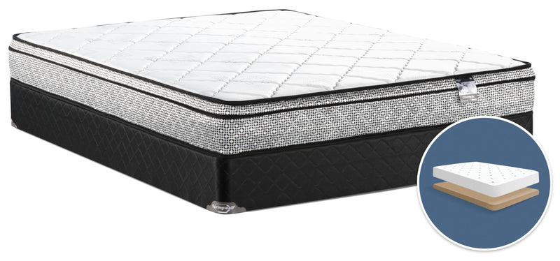Springwall Odin 3 Euro-Top Firm Low-Profile Full Mattress Set|Ensemble matelas ferme à Euro-plateau à profil bas Odin 3 de Springwall pour lit double