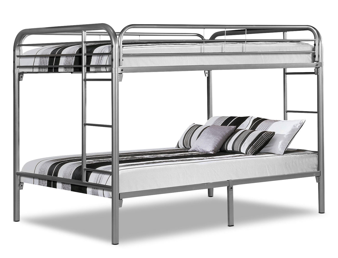 Monarch Full Bunk Bed Silver The Brick