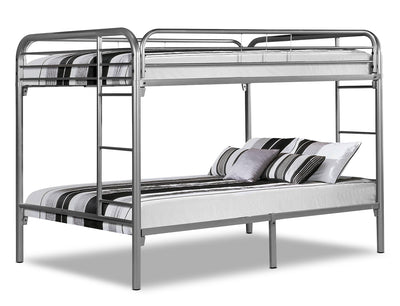 Monarch Full Bunk Bed – Silver|Lits doubles superposés Monarch - argentés|I2233SBK
