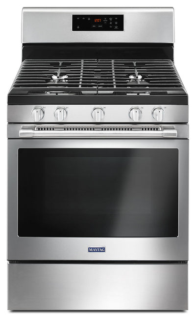 Maytag 5.0 Cu. Ft. Freestanding Gas Range with Oval Burner – MGR6600FZ - Gas Range in Stainless Steel