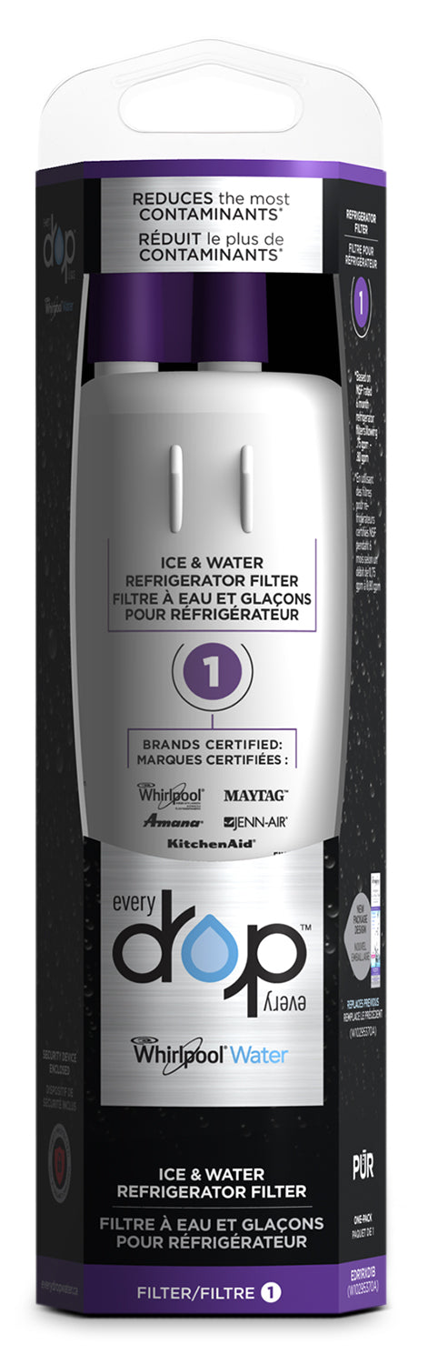 Whirlpool Everydrop™ Ice and Water Refrigerator Filter 1|Filtre à eau et à glaçons Whirlpool EveryDropMC no 1 pour réfrigérateur