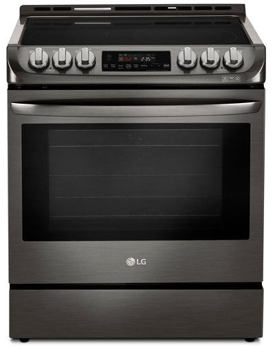 LG 6.3 Cu. Ft. Electric Slide-in Range with ProBake Convection and EasyClean – LSE4611BD - Electric Range in Black Stainless Steel