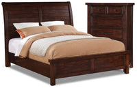 Sonoma 4-Piece King Bed and Chest Package – Dark Brown