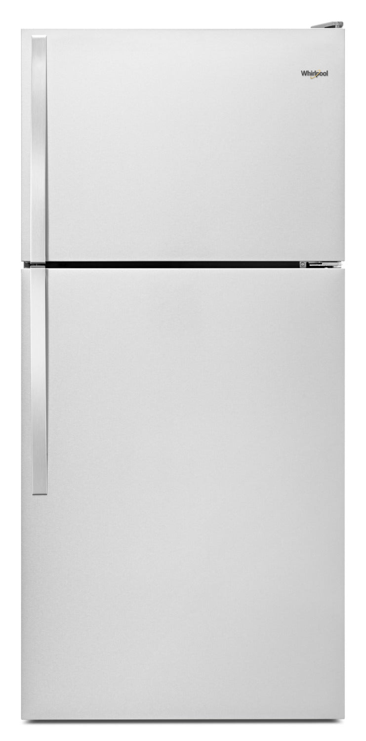 Whirlpool 14 Cu. Ft. Top-Freezer Refrigerator – WRT134TFDM - Refrigerator in Monochromatic Stainless Steel