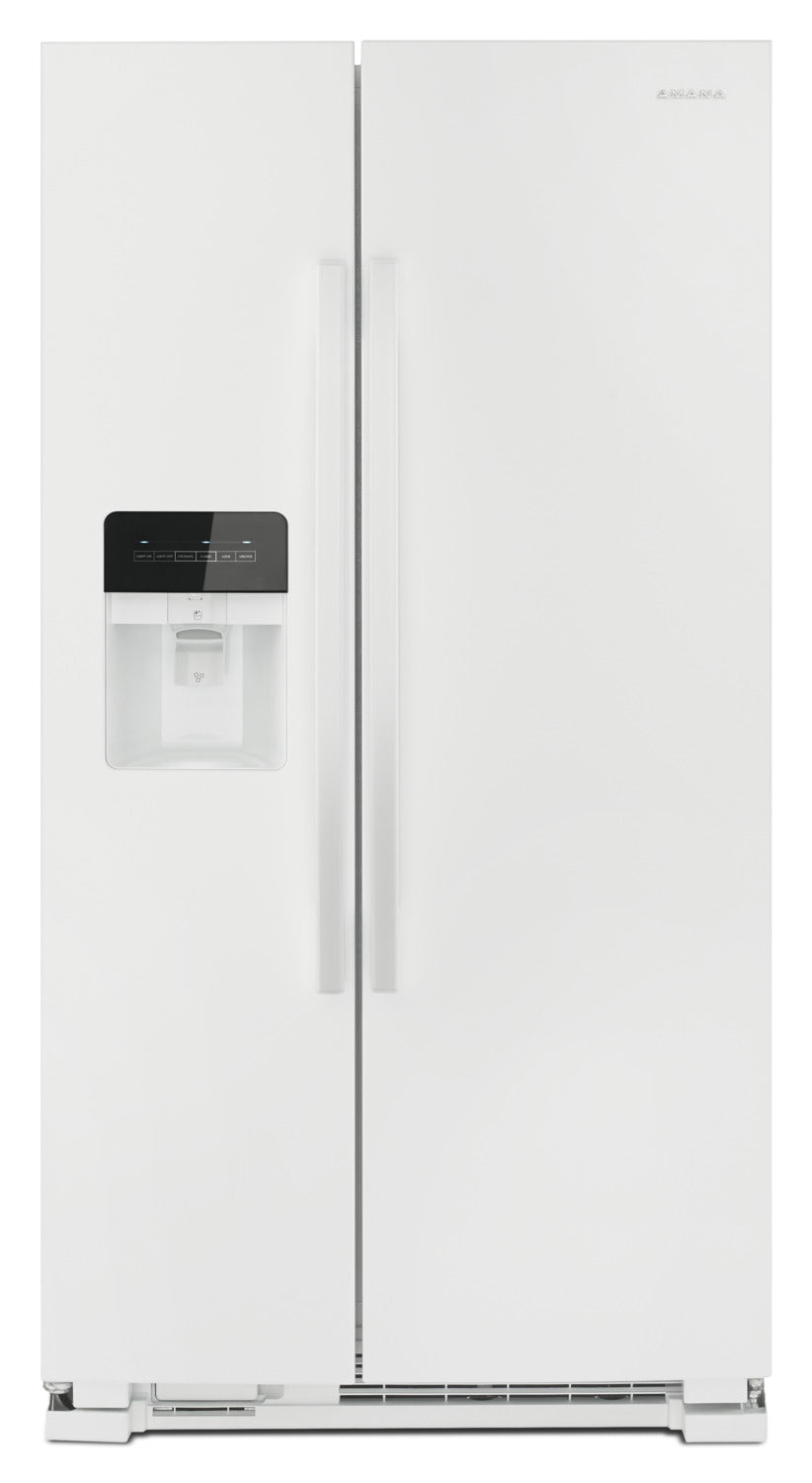 Amana 21 Cu  Ft  Side-By-Side Refrigerator with Dual Pad External Ice and  Water Dispenser – ASI2175G