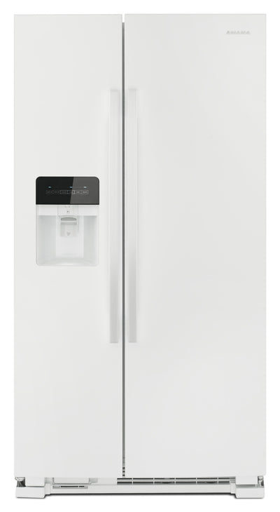 Amana 21 Cu. Ft. Side-By-Side Refrigerator with Dual Pad External Ice and Water Dispenser – ASI2175G - Refrigerator with Exterior Water/Ice Dispenser in White