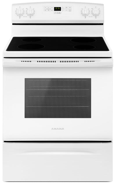 Amana 4.8 Cu. Ft. Freestanding Electric Range – YAER6303MFW - Electric Range in White