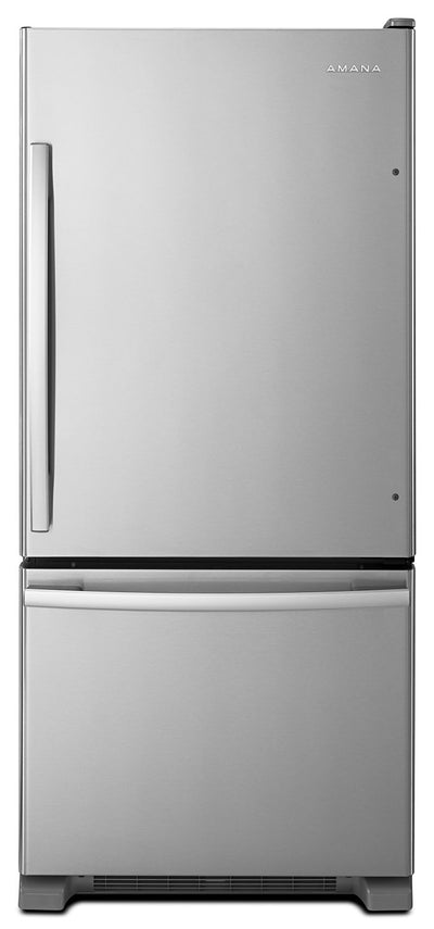 Amana 18 Cu. Ft. Bottom-Mount Refrigerator – ABB1924BRM - Refrigerator in Stainless Steel