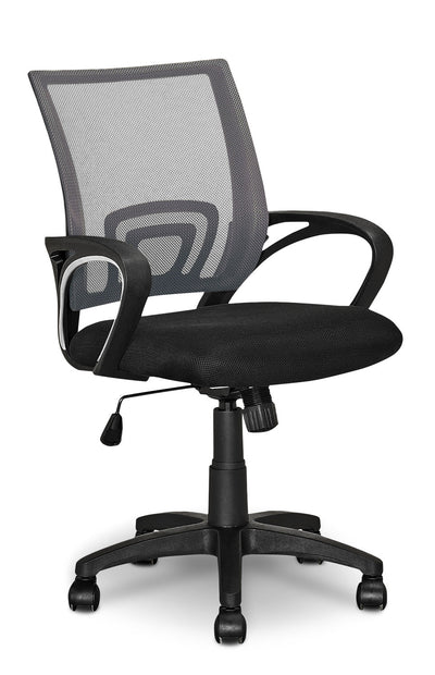 Loft Mesh Office Chair – Dark Grey|Chaise de bureau Loft en mailles - gris foncé|LODGYCHR