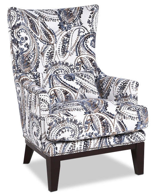 Haden Fabric Accent Chair Paisley The Brick