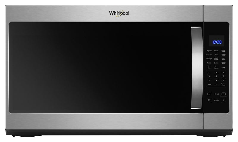 Whirlpool 2.1 cu. ft. Over the Range Microwave with Steam cooking|Four à micro-ondes à hotte intégrée avec cuisson à vapeur Whirlpool®, 2,1 pi3