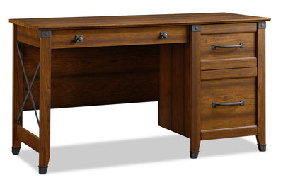 Carson Forge Desk – Washington Cherry - Rustic style Desk in Washington Cherry