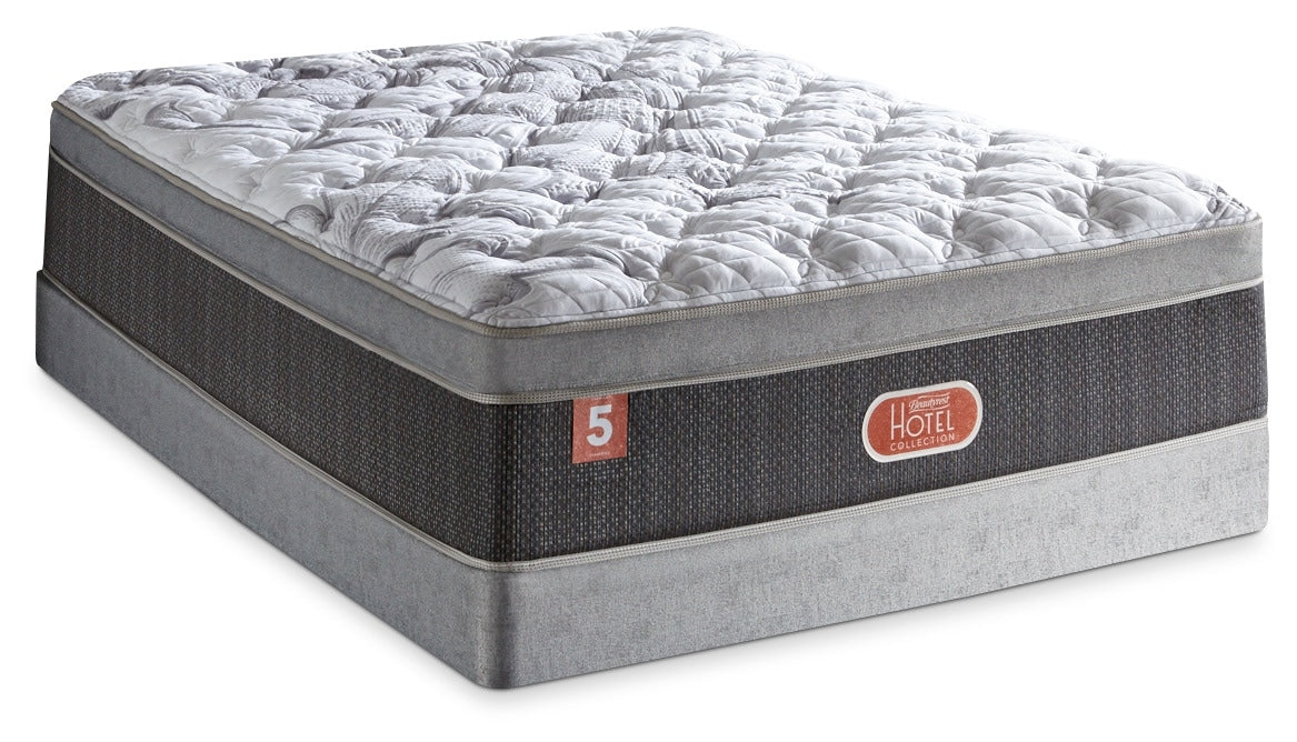 Beautyrest Hotel Diamond 5 Plush Euro Top Queen Mattress Set The