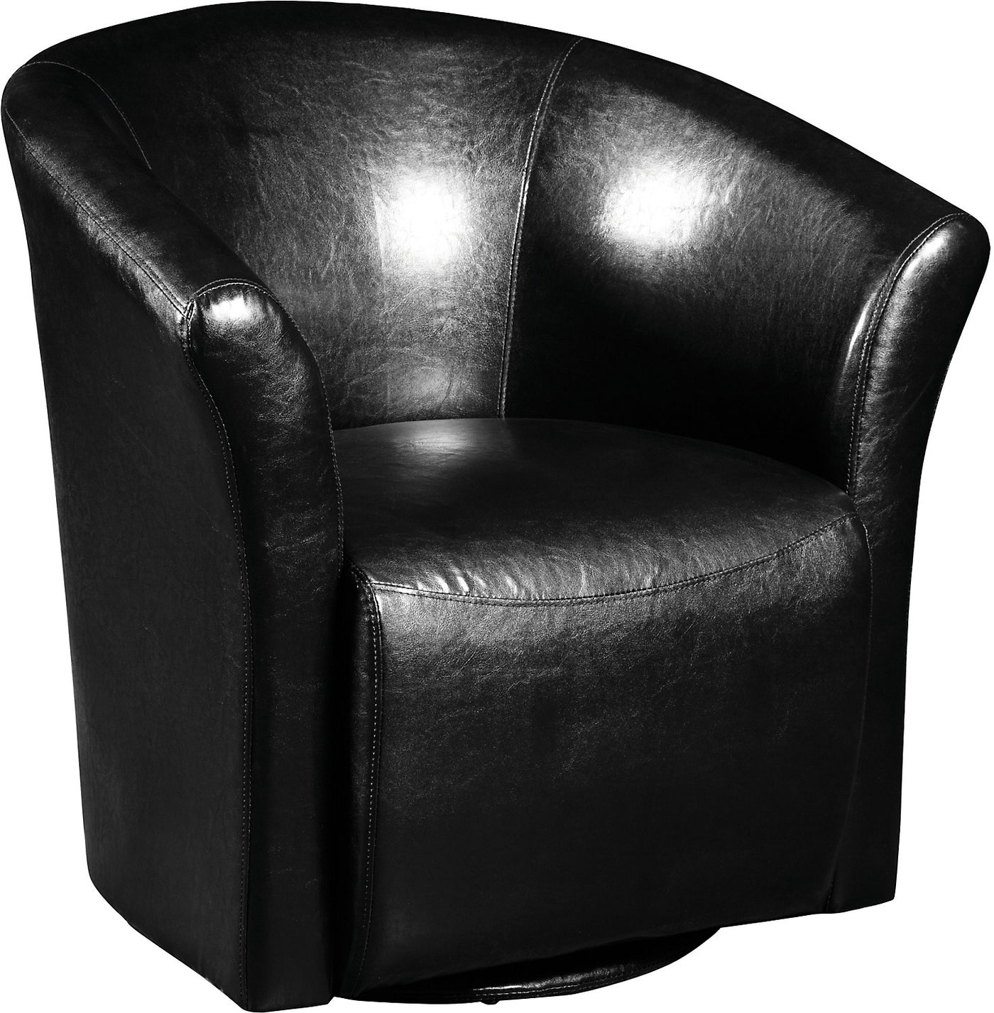 Picture of: Black Swivel Accent Chair The Brick