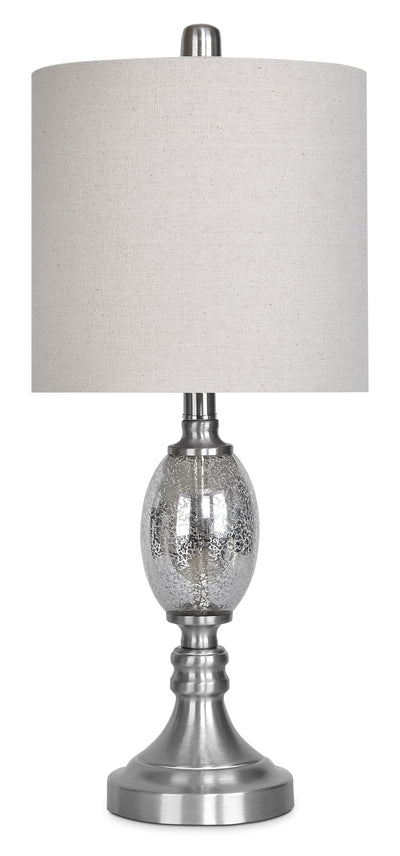 Mercury Glass Brushed Nickel Table Lamp|Lampes de table en nickel brossé et verre de mercure|GT9093TL