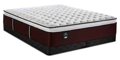 Sealy Crown Jewel Duchess of York Pillowtop King Mattress with Low-Profile Sealy 2020 Boxspring|Ensemble plateau-coussin Duchess of York Crown Jewel pour très grand lit et sommier profil bas 2020 Sealy|DCHSYLKP