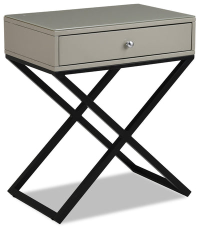 Demi Nightstand - Taupe|Table de nuit Demi - taupe|DEMIT1NS