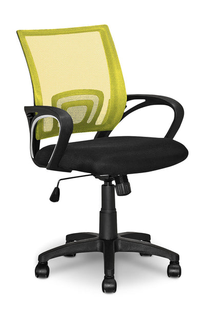 Loft Mesh Office Chair – Yellow|Chaise de bureau Loft en mailles - jaune|LOFYWCHR
