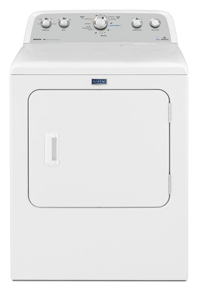Maytag Bravos 7.0 Cu. Ft. High-Efficiency Electric Dryer - YMEDX6STBW|Sécheuse électrique haute efficacité Maytag BravosMC de 7,0 pi³ - YMEDX6STBW|YMEDX6SW