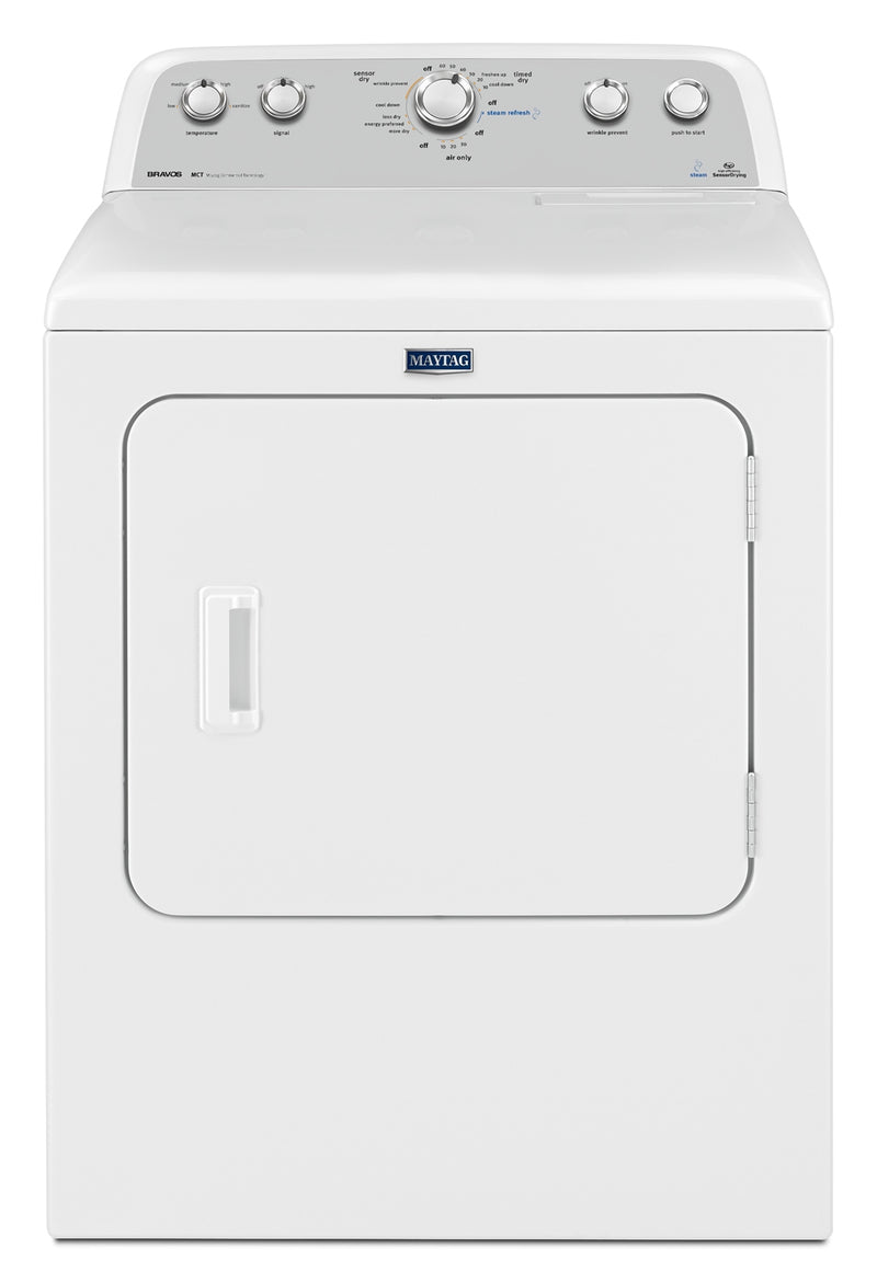 Maytag Bravos 7.0 Cu. Ft. High-Efficiency Electric Dryer - White|Sécheuse électrique haute efficacité Maytag BravosMC de 7,0 pi³ - blanche|YMEDX6SW