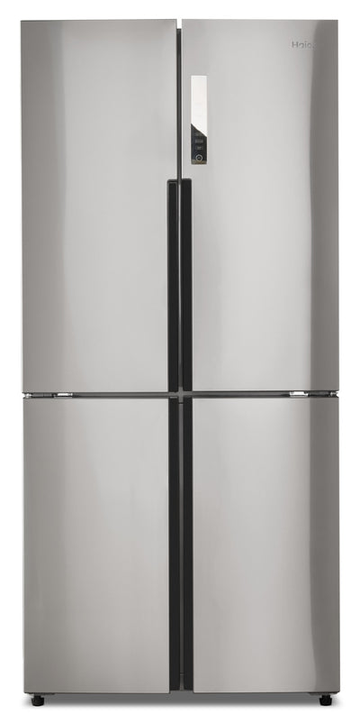 Haier 16.4 Cu. Ft. Quad-Door Refrigerator – HRQ16N3BGS - Refrigerator in Stainless Steel