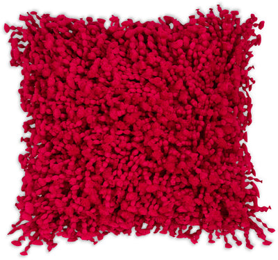 Shaggy Accent Pillow – Red|Coussin décoratif Shaggy à poil long - rouge|63252BDP