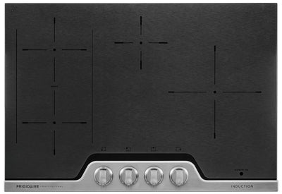 "Frigidaire Processional 30"" Induction Cooktop – FPIC3077RF - Electric Cooktop in Stainless Steel/Black"