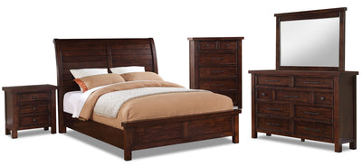 Sonoma 7-Piece Queen Bedroom Package - Dark Brown|Ensemble de chambre à coucher Sonoma 7 pièces avec grand lit|SONOMQPK7